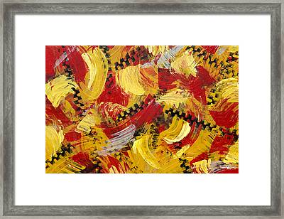Industrial Abstract Painting IIi Framed Print by Christina Rollo