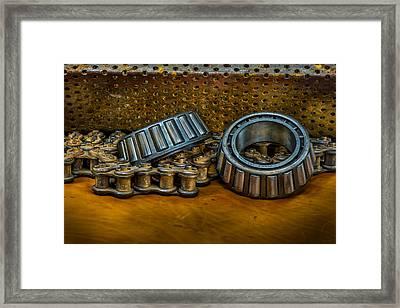Industrial Bearings Still Life Framed Print by Paul Freidlund