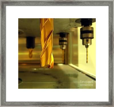 Industrial Drilling Machine Framed Print by Yali Shi