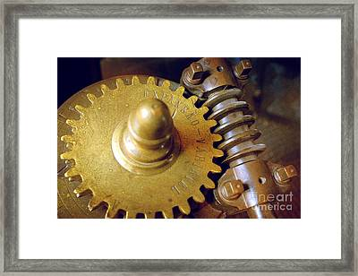 Industrial Gear Framed Print by Carlos Caetano