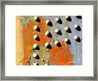 Industrial-glyph Framed Print by Laura Star