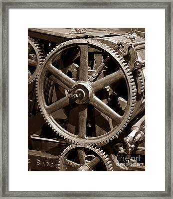 Industrial Revolution Sepia Framed Print by Chalet Roome-Rigdon
