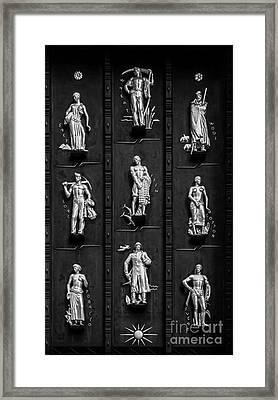 Industries Of The British Empire - Bw Framed Print by James Aiken