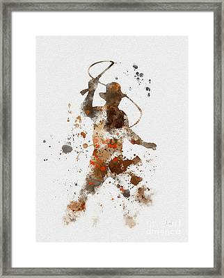 Indy Framed Print by Rebecca Jenkins