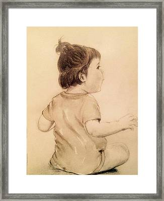 Infant  Framed Print by Beena Khan