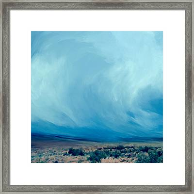 Infinite Blue Framed Print by LC Bailey
