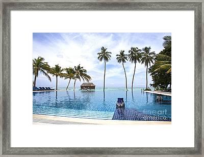 Infinity Pool Meeru Framed Print by Jane Rix