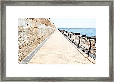 Infinity Walk Framed Print by David Coleman