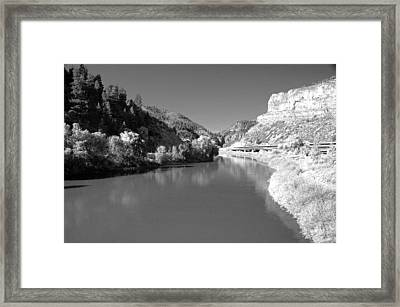 Infrared Black And White Framed Print by James Steele