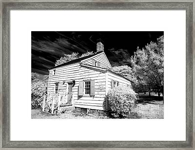 Infrared House At Olde Towne Framed Print by John Rizzuto