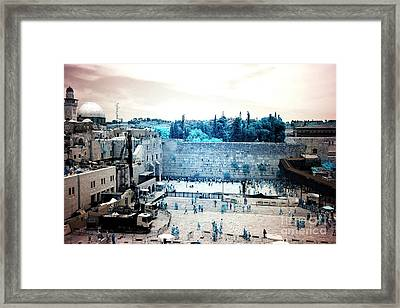 Infrared Western Wall Framed Print by John Rizzuto