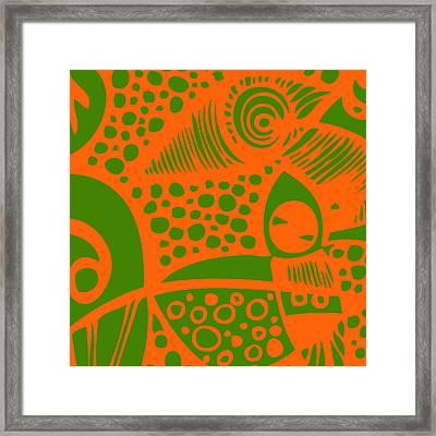 Ink #1 Chameleon's Dream Framed Print by Bravo La Fourmi