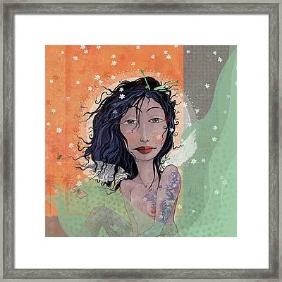 Inked Angel  Framed Print by Dennis Wunsch