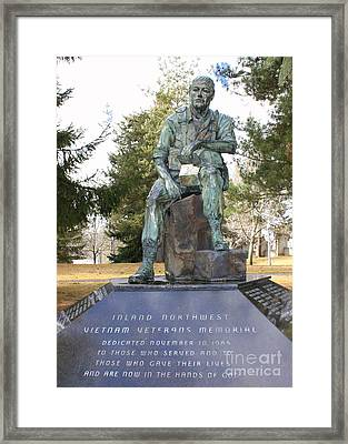 Inland Northwest Vietnam Veterans Memorial Framed Print by Carol Groenen