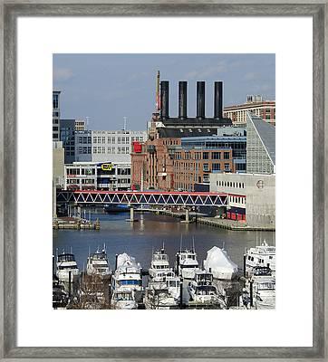 Inner Harbor - Baltimore - Maryland Framed Print by Brendan Reals
