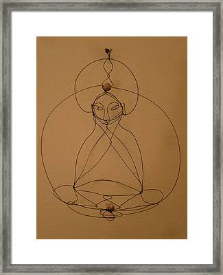 Inner Peace Framed Print by Live Wire Spirit