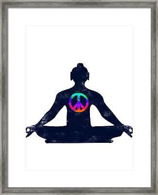Inner Peace Framed Print by Keshava Shukla