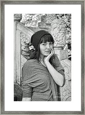 Innocent Freckle Faced Beauty Framed Print by Jim Fitzpatrick