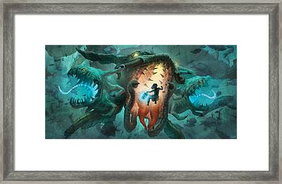 Inoculating The Water Dragon  Framed Print by Ethan Harris