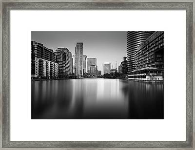 Inside Canary Wharf Framed Print by Ivo Kerssemakers