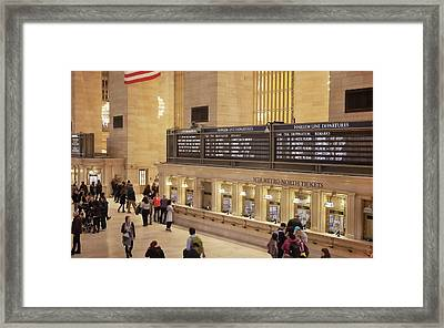 Inside Grand Central Terminal Framed Print by Art Block Collections