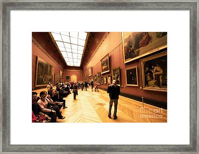 Inside Louvre Museum  Framed Print by Charuhas Images