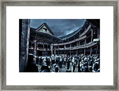 Inside Shakespeare's Globe Framed Print by Rich Beer