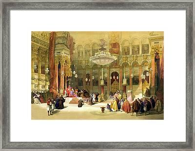 Inside The Church Of The Holy Sepulchre Framed Print by Munir Alawi