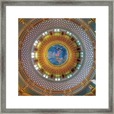 Inside The Dome Framed Print by Jame Hayes