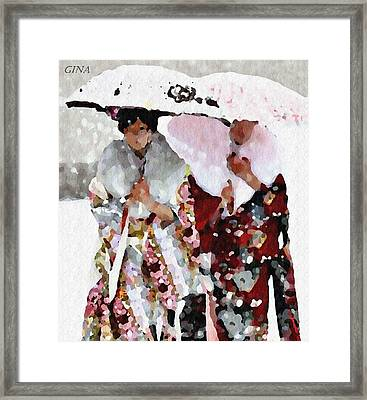 Inside The Now Framed Print by Gina Seymour