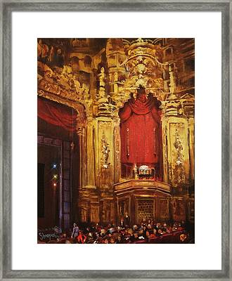 Inside The Oriental Theater Chicago Framed Print by Tom Shropshire