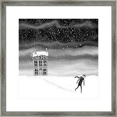 Inside The Snow Globe  Framed Print by Andrew Hitchen