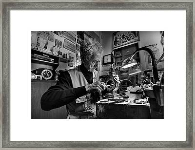 Inside The Time - Through Time Framed Print by Antonio Grambone