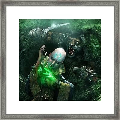 Insidious Ambush Framed Print by Ryan Barger