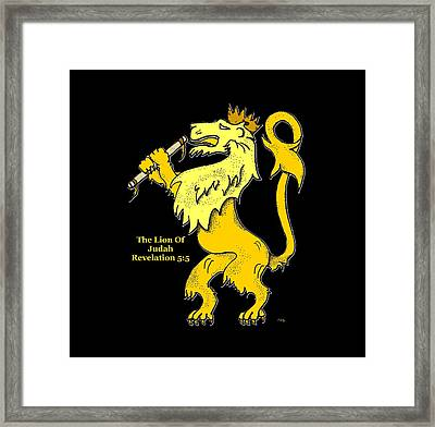 Inspirational - The Lion Of Judah Framed Print by Glenn McCarthy Art and Photography