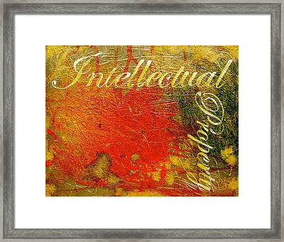 Intellectual Property Framed Print by Laura Pierre-Louis