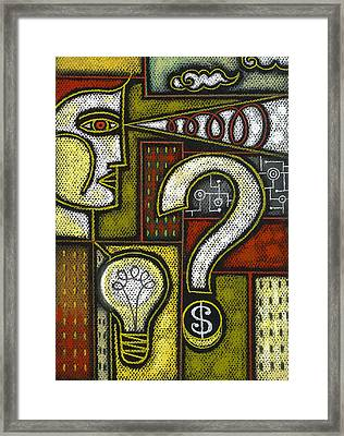 Intelligence Framed Print by Leon Zernitsky
