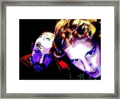 Intense Selfie Framed Print by Brad Wilson