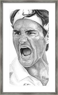 Intensity Federer Framed Print by Tamir Barkan