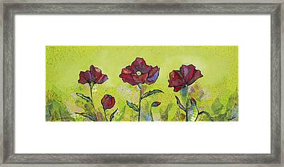 Intensity Of The Poppy I Framed Print by Shadia Zayed