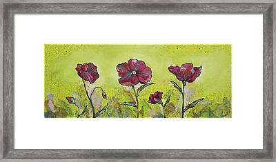 Intensity Of The Poppy II Framed Print by Shadia Zayed