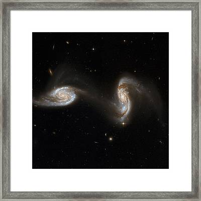 Interacting Galaxies Ngc 5257 And 5258 Framed Print by Stsciaurahubble Collaborationa. Evans (university Of Virginia, Charlottesville;nrao;stony Brook University)nasa