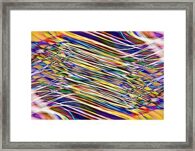 Interface Framed Print by Don Zawadiwsky