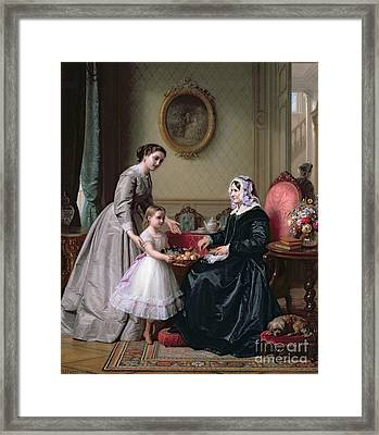 Interior At 'the Chestnuts' Wimbledon Grandmother's Birthday Framed Print by J L Dyckmans