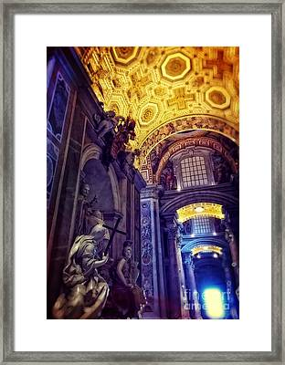 Interior Of St Peter's Basilica Framed Print by HD Connelly