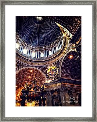 Interior Of St Peters Framed Print by HD Connelly