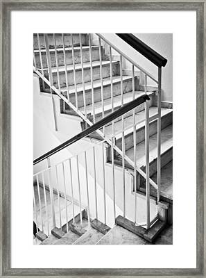 Interior Stairs Framed Print by Tom Gowanlock