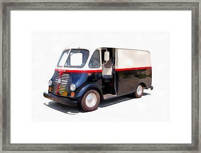 International Harvester Metro Van  Framed Print by Edward Fielding