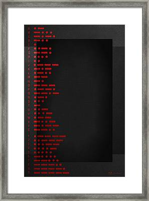 International Morse Code - Red On Black.   Framed Print by Serge Averbukh