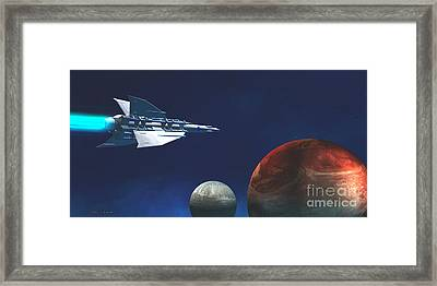 Interplanetary Travel Framed Print by Corey Ford